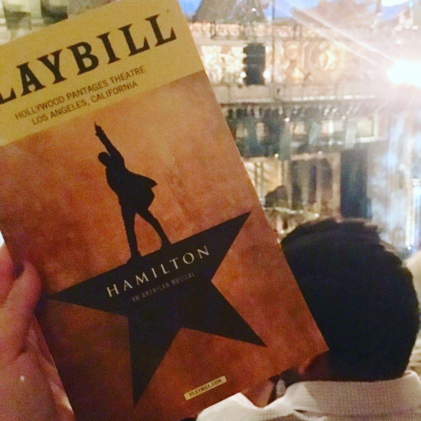 look around, look around at how lucky we are to be alive right now : Los Angeles and HAMILTON[25]